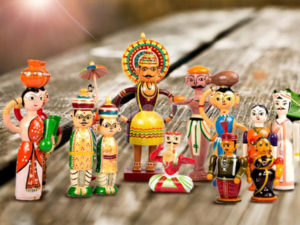 Channapatna dolls often portray mythological characters